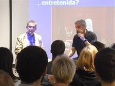 03.Bruno Montano presenta a Santiago Posteguillo-Trabalibros