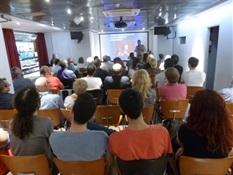 05.Bruno Montano presenta a Santiago Posteguillo-Trabalibros