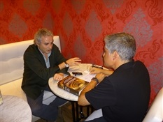 10.Bruno Montano entrevista a Ildefonso Falcones-Trabalibros.JPG