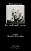 Las palabras del regreso (María Zambrano)-Trabalibros