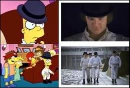 Los Simpson referencia a La naranja mecánica (3)-Trabalibros