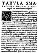 Copia en papel de la Tabla Esmeralda-Trabalibros
