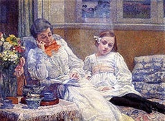 Maria Van Rysselberghe con su hija-Trabalibros