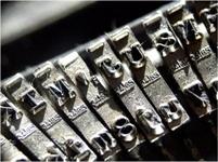 Trabalibros-letras máquina escribir